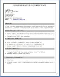 Image Result For Ca Ipcc Cv Format For Freshers Students