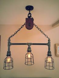 diy industrial lamp shade 27 best old pulley uses images on