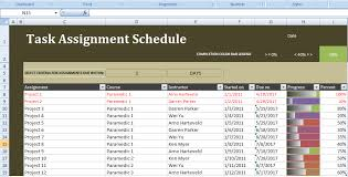 Scheduling Tool Excel This Excel Task Assignment Schedule Template Is Used For Making A