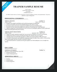 Athletic Trainer Resume Athletic Trainer Resume Objective Resumes ...
