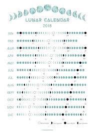 2018 Lunar Calendar Moon Phases For The Home Moon