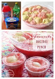 punch with vanilla ice cream joyful