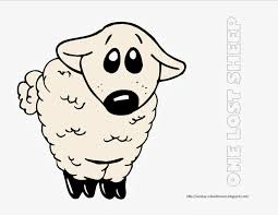 Small Picture One Lost Sheep Coloring Page Sunday School Coloring Pages
