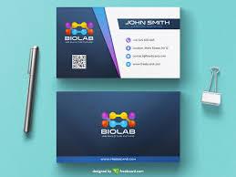 business card tamplate modern biology business card template freebcard