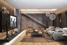 Modern Color Schemes For Living Rooms Modern Living Room Design With Dark Color Concept Roohome