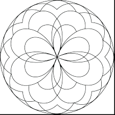 Mandala Coloring Pages Kids Simple Mandala Coloring Pages Simple