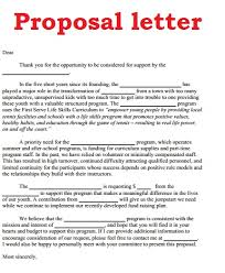 proposal letter example creating a business proposal template online writing lab write a