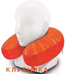 <b>Подушка Espera Memory</b> Foam для путешествий клубника ...