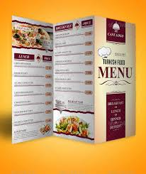 To Go Menu Templates Trifold Menu Under Fontanacountryinn Com