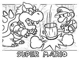Small Picture Bowser Coloring Pages Bebo Pandco