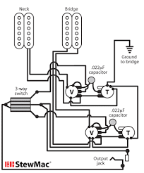 switchcraft 3 way toggle switch stewmac com Gibson Pickup Wiring Diagram you can wire both of the volume controls of a les paul (or any other dual volume control instrument) so that you can blend the volume of the pickups gibson humbucker pickup wiring diagram