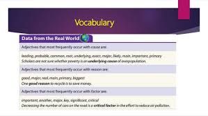 sentence structures and vocabulary for cause and effect essay vocabulary 13