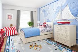 colorful childrens bedroom with white furniture s