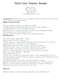 Daycare Resume Examples Dewdrops Mesmerizing Child Care Provider Resume