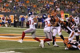 Preseason Game Review New York Giants 25 Cincinnati