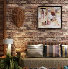 faux brick wallpaper for the home bricks rustic wall covering ideas