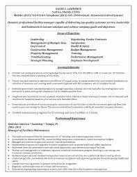 Facility Manager Resume Facilities Manager Sample Resume Inspirational Maintenance 7