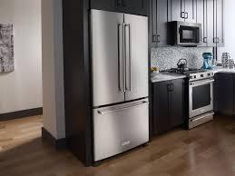 ... French Door Refrigerators French Door Refrigerator Samsung Modern  Kitchen With Black L Shaped Kitchen ...
