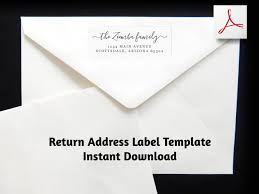 Avery Template 8860 Return Address Label Template Printable Envelope Label