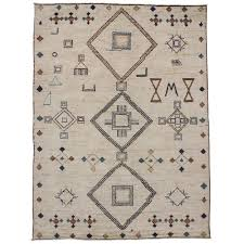 contemporary moroccan style area rug with modern tribal design for