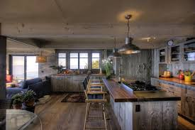 Rustic Kitchen Floors Reclaimed Barnwood Floor For Kitchen Layout Outofhome