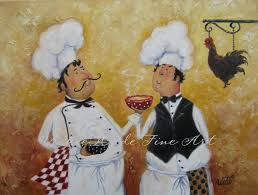 kitchen paintingsFat Chefs Art Print chef paintings art kitchen art wall