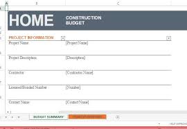 building a home budget home construction budget template for excel