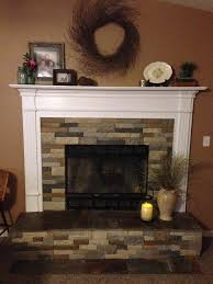 air stone fireplace with slate mixed autumn mountain and spring creek all at