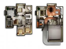 Inspiring Custom 3d 2 Floor House Plan Modern For Bathroom Accessories 3d 4  Bedroom Modern House Plans Photo
