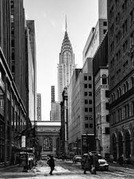 chrysler building black and white wallpaper. urban scene in winter at grand central terminal new york city with the chrysler buildingphilippe hugonnard building black and white wallpaper