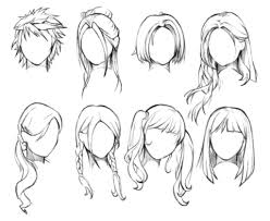 Female Hairstyles Sketches