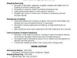 shipping and receiving resume. Shipping And Receiving Resume Examples nmdnconferencecom