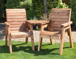 garden seat. Modren Seat Twin Garden Companion Chairs  Love Seats Tete A Solid Wood  Patio With Seat