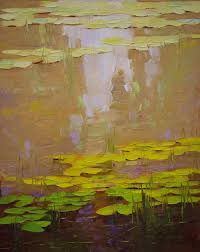 saatchi art waterlilies fall original oil painting impressionism fine art traditional art one of a kind painting by vahe yeremyan