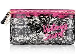 new victoria s secret makeup bag cosmetic bag lace um train case brand new