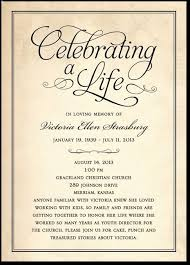 Memorial Service Invitation Wording Impressive Celebration Invitation Card Gottayottico