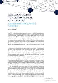 Basic Challenges Of Organizational Design Pdf Design Guidelines To Address Global Challenges Lessons