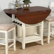 ... Jofran Counter Height Table In Whitecherry Get With 4 Chairs Small  Round Drop Leaf Table ...