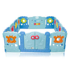 baby vivo foldable baby child playpen for indoor and outdoor sea world