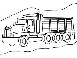 Small Picture 3 Axle Dump Truck On Mountain Road Coloring Page Kids Play Color