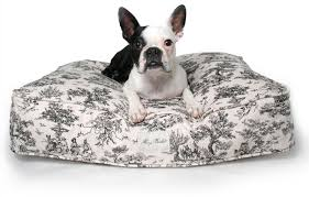 High end dog beds Human Like Dog Toile Rectangle Dog Bed The Muttropolis Blog Luxury Dog Bed The Muttropolis Blog