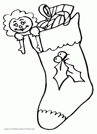 Small Picture Christmas Stocking Coloring Pages Coloring Home
