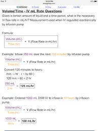 Iv Rate Calculation Formula Nursing Math Nursing School