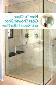hard water stains on shower doors glass door how to clean