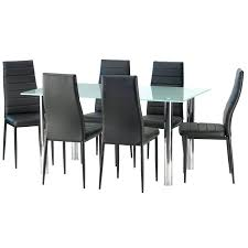 smoked glass dining table frosted glass dining table 6 x dining chair frosted glass dining tables uk