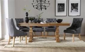 oak dining room table and 8 chairs. cavendish oak extending dining table with 8 duke slate chairs room and d