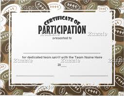 Football Certificate Template Enchanting 48 Participation Certificates Examples Samples