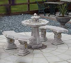 Image Inspired Statues Sculptures Online Garden Furniture Japanese Stone Benches Table Patio Set Amazoncouk Garden Outdoors Simpletranz Home Decor Statues Sculptures Online Garden Furniture Japanese Stone