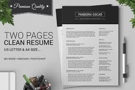 40 Pages Clean Resume CV Pandora On Behance Magnificent Resume Pandora