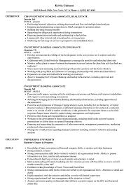 Investment Banking Resume Resumes Intern Template Objective Examples